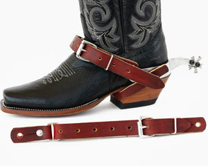 Bull Riding Leather Spur Straps