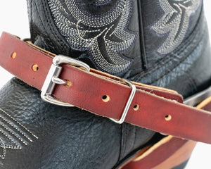 "Adult 3/4"" Fold Back Spur Straps"
