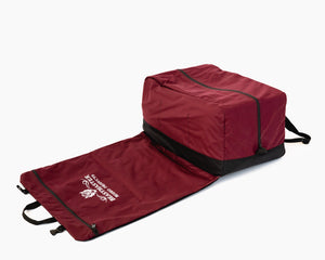 Beastmaster Rodeo Gear Bags - Large Burgundy Folded Out