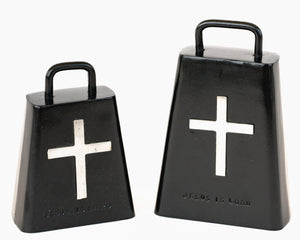Black Bull Bells With Cross
