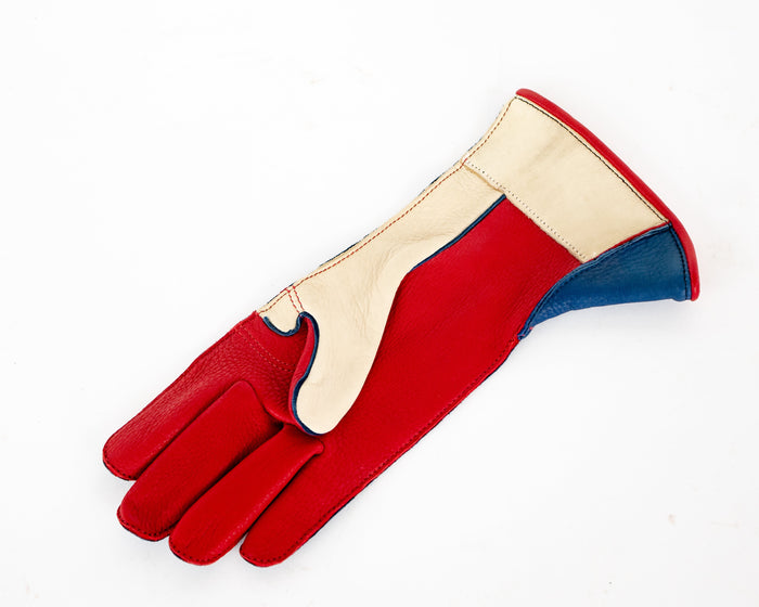 Rodeo Mart Bull Riding Glove - Red, White, Blue