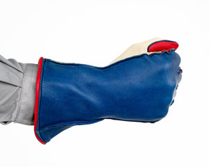 1RM Bull Riding Glove in Red, White, Blue Fist Back