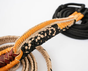 "Colored Brazilian Bull Rope 7/8"" Handle 1"" Soft Tail"