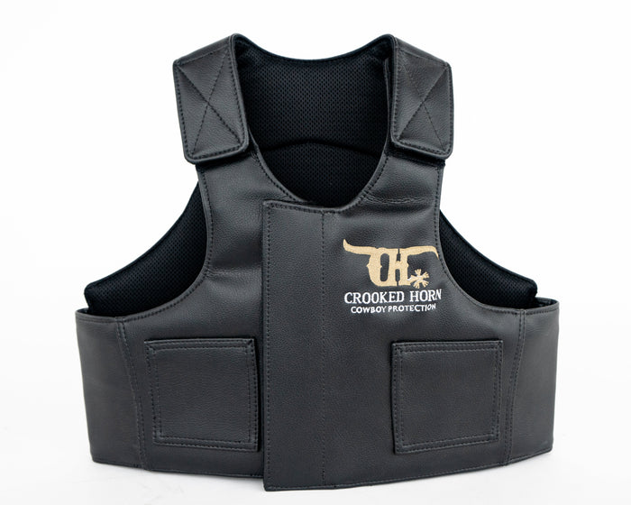 Crooked Horn All Around Pleather Rodeo Vest - Youth