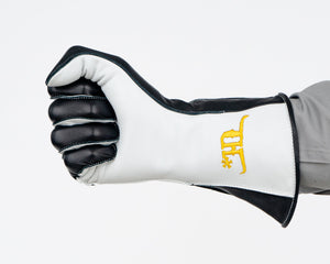 Crooked Horn Bull Riding Glove in a Fist Front