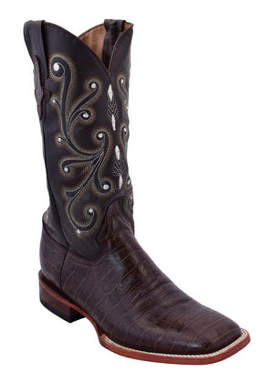 Ferrini Ladies Gator Belly Print Chocolate S-Toe