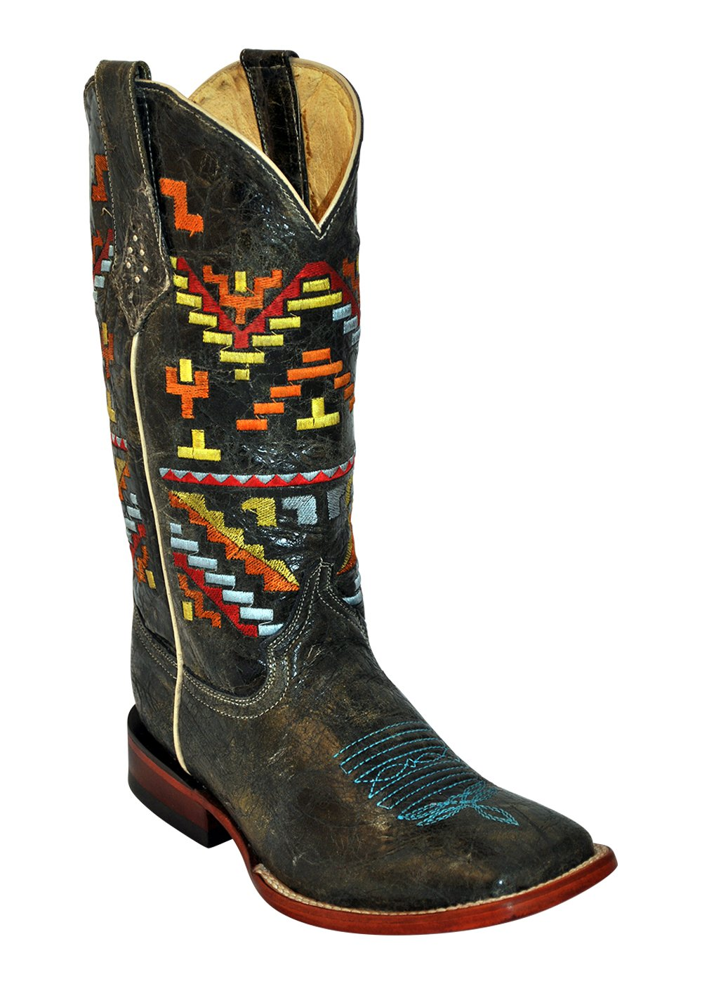 Ferrini Ladies Aztec Cowgirl Teal S-Toe
