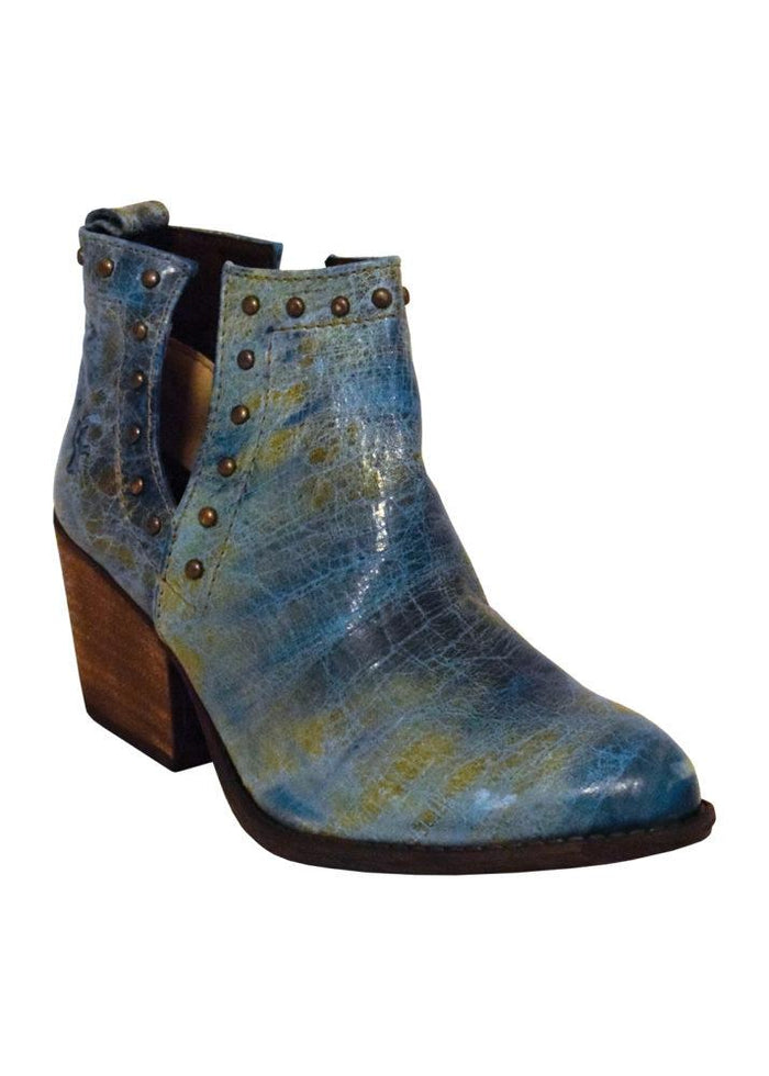 Ferrini Ladies Bootie Turquoise R-Toe