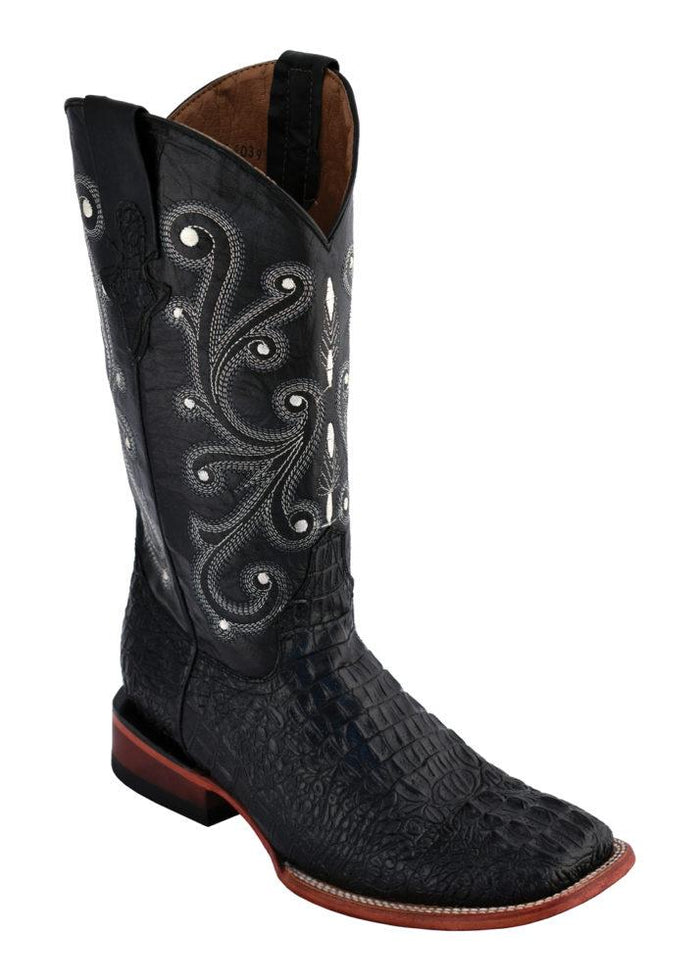 Ferrini Ladies Caiman Print Black S-Toe