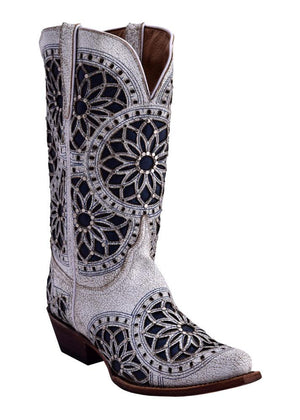 Ferrini Ladies Mandala White V-Toe