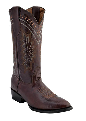 Ferrini Men's Roughrider Distressed Brown D-Toe