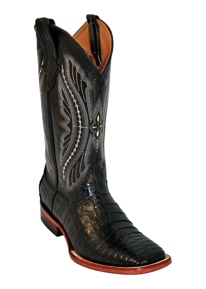 Ferrini Men's Caiman Belly Black S-Toe