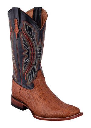 Ferrini Men's Caiman Body Cognac S-Toe
