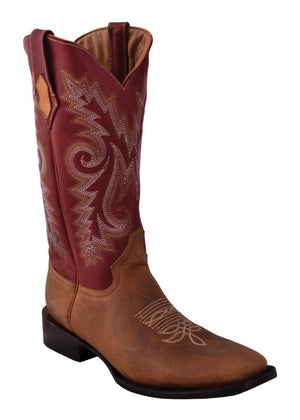Ferrini Men's Roughrider Distressed Brown S-Toe
