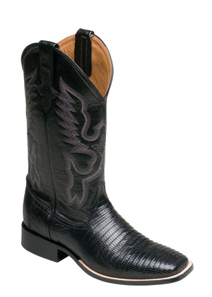 Ferrini Men's Teju Lizard Black S-Toe