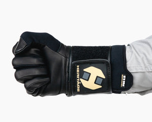 Heritage Adult Wrist Wrap Bull Riding Glove in a Fist Front View