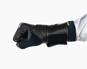 Heritage Adult Wrist Wrap Bull Riding Glove in a Fist Side View