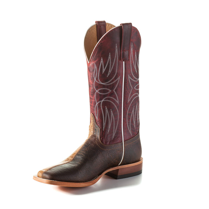 Horse Power Adult Boots - HP1798 Tan & Brown Two Face Bottom with Red Apple Top