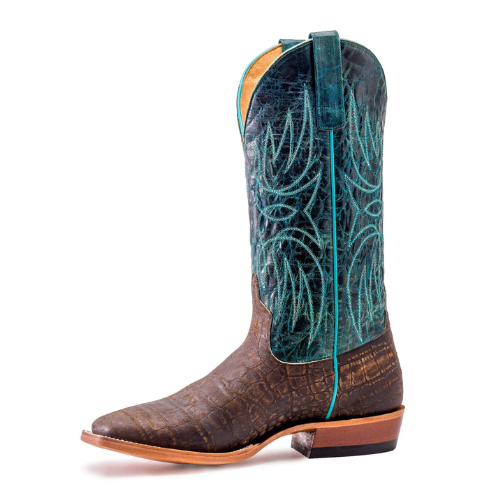 Horse Power Adult Boots - HP1815 Coca Vintage Bottom with Turquoise Dive Top