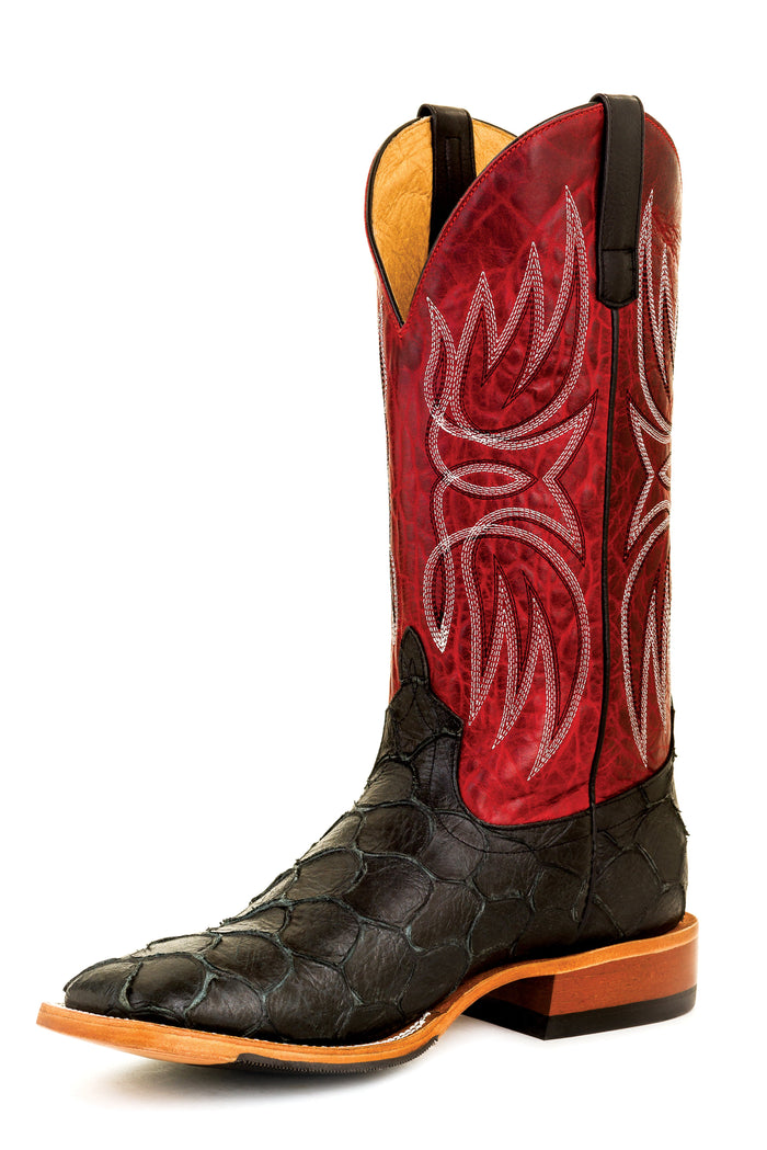 Horse Power Adult Boots - HP1821 Blackened Filet Bottom with Red Apple Top