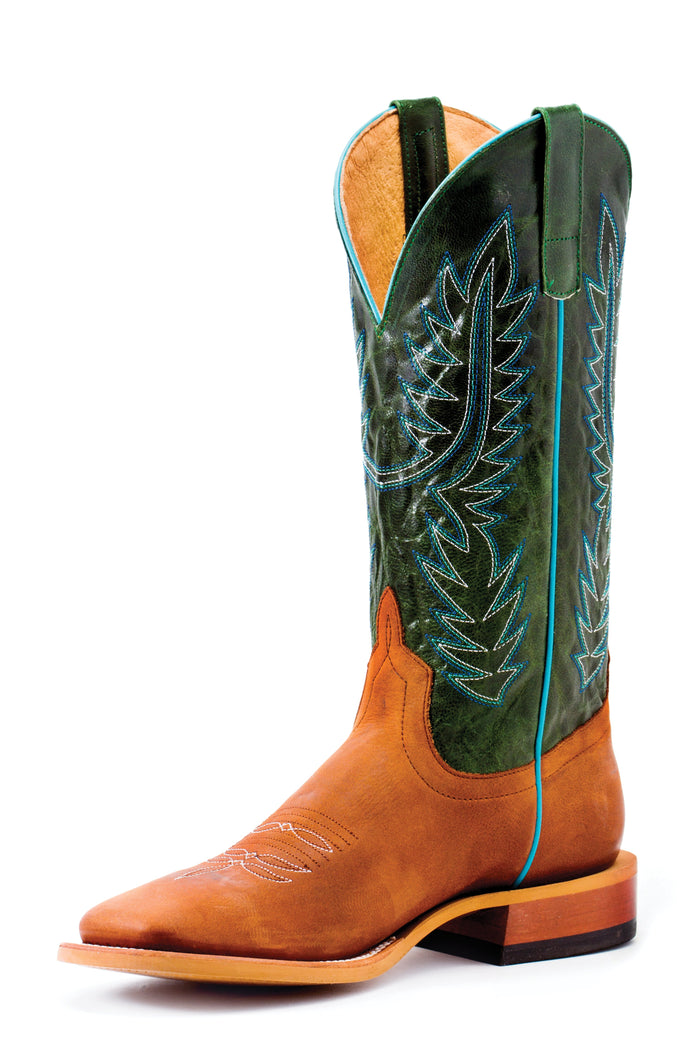 Horse Power Adult Boots - HP1826 Hans Cognac Bottom with Emerald Explosion Top