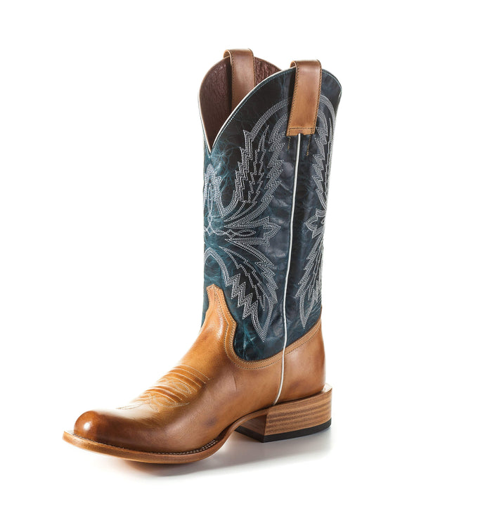 Horse Power Adult Boots - HP6004 Golden Haystack Bottom with Navy Blue Vail Top