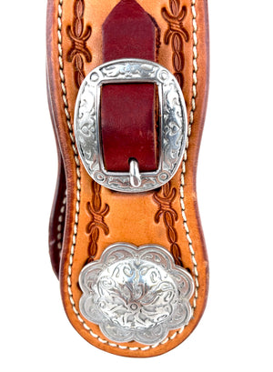Tooled Single Split Ear Headstall