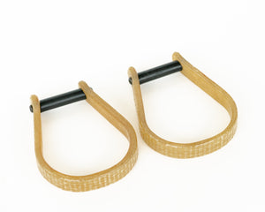 Junior Fiberglass Saddle Bronc Stirrups Side by Side