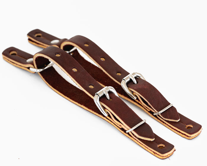"Junior 3/4"" Fold Back Spur Straps"