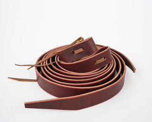 Leather Rough Stock Latigos Coiled
