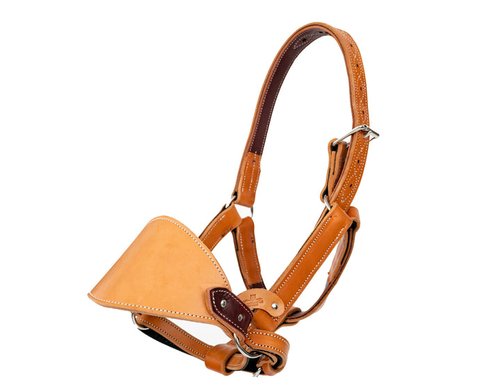 Beastmaster Adult Leather Saddle Bronc Halter