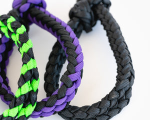 Bull Bell Strap - Black & Green, Black & Purple and Black