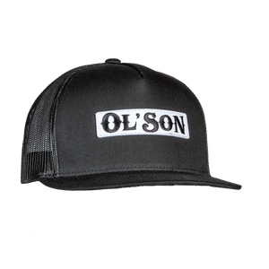 Ol' Son Patch Black Mesh Flatbill