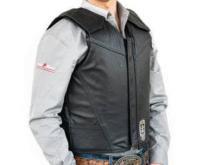 Ride Right Flex Thin Pro Adult Rodeo Vest Leather Right Side