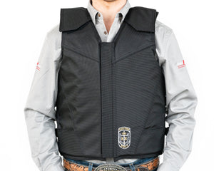 Ride Right Flex Thin Pro Adult Rodeo Vest - Hydrotuff Front