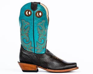 Beastmaster Rough Stock Boot - Turquoise Side View