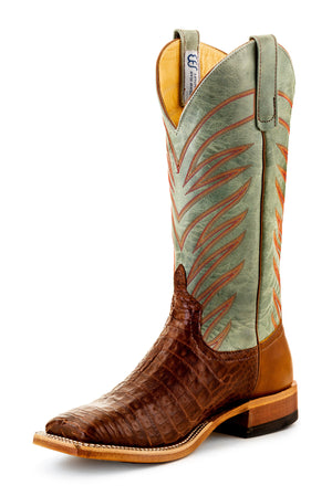 Vamp Tobacco Caiman Belly Sagamore Lava Leather S3006