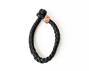 Black Small Braided Rope Keeper