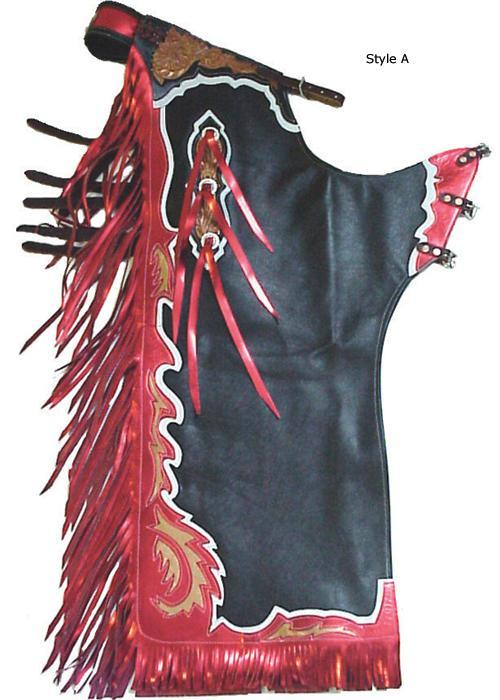 Super Pro Rough Stock Custom Pro Rodeo Chaps Style A