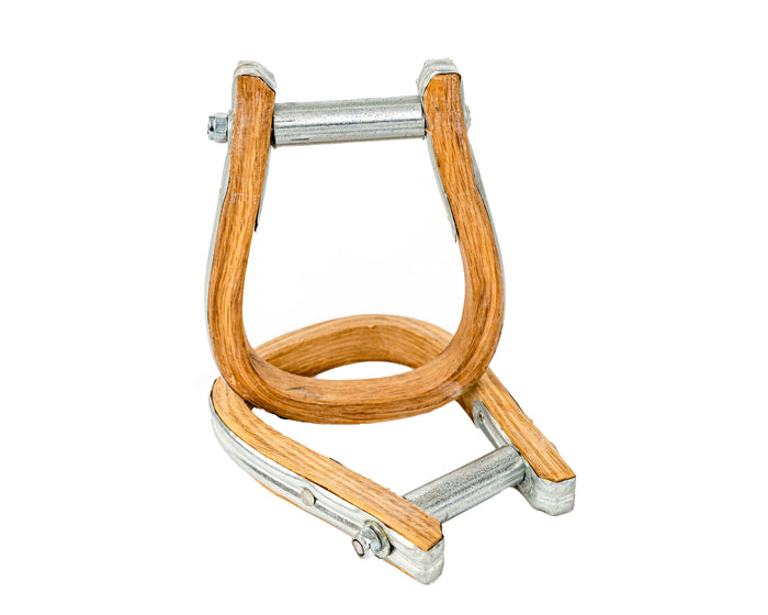 Beastmaster Junior Wood Saddle Bronc Stirrups