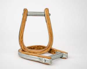 Beastmaster Wood Saddle Bronc Stirrups