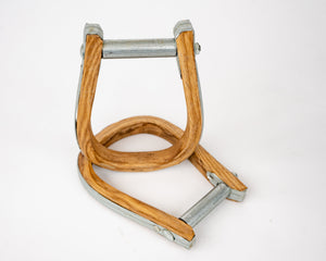 Beastmaster Wood Saddle Bronc Stirrups Top View