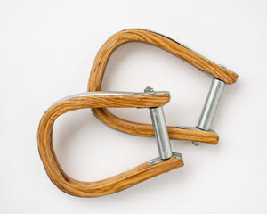 Beastmaster Wood Saddle Bronc Stirrups Side View