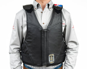 Ride Right Wright Western Saddle Bronc Vest - Leather Front