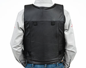 Ride Right Wright Western Saddle Bronc Vest - Leather Back