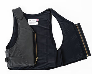 Ride Right Wright Western Saddle Bronc Vest - Leather Open