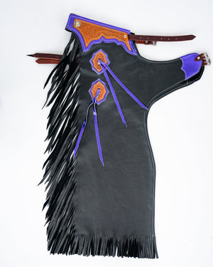 Youth Rodeo Chaps with No Leg Design Purple