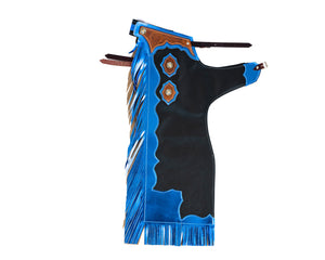 Youth Rodeo Chaps with Leg Design Blue