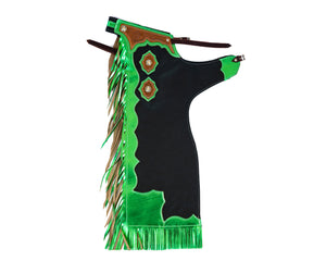 Youth Rodeo Chaps with Leg Design Green