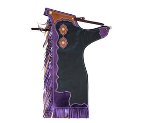 Youth Rodeo Chaps with Leg Design Purple